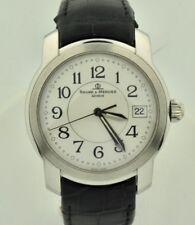 Baume & Mercier Capeland MV045214 Stainless Quartz White Dial 35mm Watch MINT
