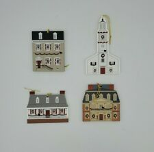 Lot of 4 Cats Meow Village Christmas Ornament Colonial Virginia Christmas Series