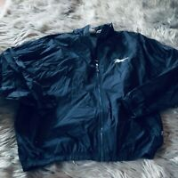 VINTAGE Reebok Windbreaker Jacket Adult Large Blue Pull Over 90s Clean Retro