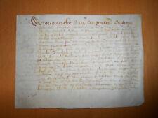1632 signed antique manuscript 4 pages law legal vellum document handwritten