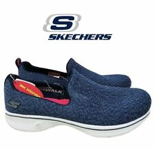 Skechers Ladies' Go Walk 4 Slip on Shoe Navy 6 Priority