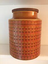 Retro vintage Hornsea Saffron large jar pot cannister