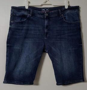 Mr Big Mens 46 Stretch Denim Shorts Dark Blue As New