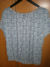 Schicke TOM TAILOR Bluse  Gr. 42  kurzarm, top