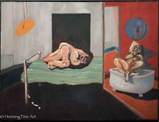 "Stunning Oil Painting of Two Nude Similar to Francis Bacon, Signed ""Larmay"" FINE"