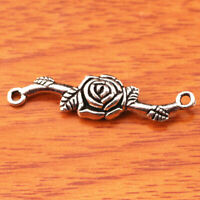 FREE SHIP 5Pcs Tibetan Silver Charm Flower Pendant Jewelry Clasp 30x20MM Z152