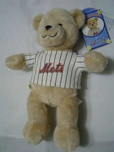 "2010 New York Mets Build a Bear Stadium Give Away 12"" Plush Bear with Tags"