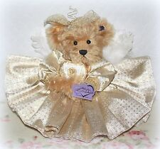 """*NEW* ANNETTE FUNICELLO 13 1/2"""" GOLDIE 50TH ANNIVERSARY ANGEL TEDDY BEAR RETIRED"""