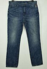 Nautica Mens Blue Straight Leg Jeans 40X34
