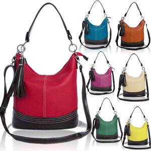 Women's Designer Made Top Handle Bucket Shape Shoulder Bag with tassel
