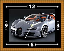 Bugatti Veyron Wall Clock Gift Present Christmas Birthday (Can Be Personalised)