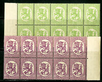 Finland Stamps # 130+133 NH Strip Of 10
