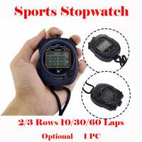 Digital Handheld Sports Stopwatch Stop Watch Timer Alarm Counter 10/30/60 Split