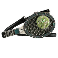 Mary Frances 40 Love Tennis Raquet Ball Black Spring 16 Beaded Bag Handbag NEW