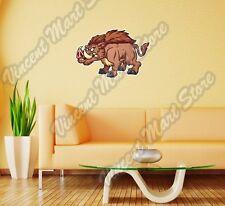 "Wild Boar Hog Pig Forest Cartoon Gift Wall Sticker Room Interior Decor 25""X18"""