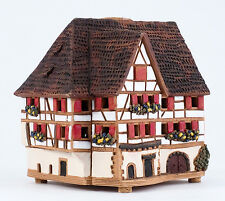 Ceramic house candle tea light holder 'Hotel in Alsace, France', 11 cm, © Midene