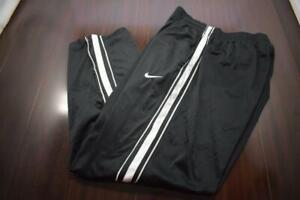 Nike Basketball Sweat Pants Black Athletic With Pockets Mens Size Large