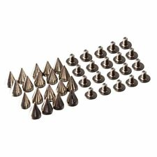 20pcs Cone Spikes Screw Back Goujons pour le bricolage Craft Leathercraft - A1G6