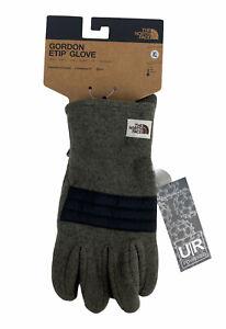 NEW The North Face Gordon Etip Winter Gloves Sherpa Fleece Green UR Powered NWT