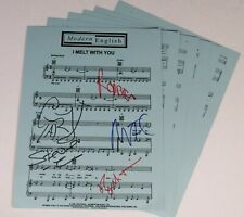 """Robbie Grey MODERN ENGLISH Signed Autograph """"I Melt With You"""" Sheet Music x5"""