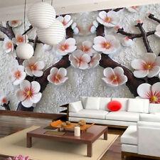 3D Modern Luxury Embossed Flower Wallpaper Mural Roll Bedroom Wall Background