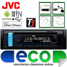 Vauxhall Astra H JVC CD MP3 USB Car Stereo Grey Fascia & Steering Wheel Kit