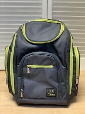 Bb Gear Baby Diaper Backpack Gray Green Wipe Holder Change Mat Euc