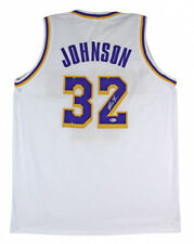 SIGNED Magic Johnson Authentic White Lakers Jersey with Beckett Authentication