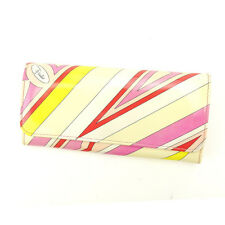 Emilio Pucci Wallet Purse Long Wallet Woman Authentic Used C1990