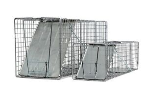 2 Fully Assembled Catch and Release Animal Traps Large: 32x10x12 Medium 24x7x7
