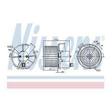 Fits Peugeot 307 1.4 16V Genuine Nissens Interior Heater Blower Motor Fan