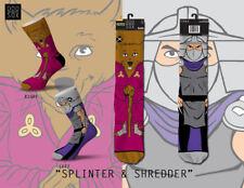 Odd Sox Splinter & Shredder Teenage Mutant Ninja Turtles TMNT Socks Men's 6-13