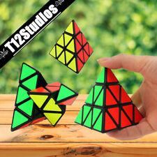 Pyraminx Triangle Puzzle Cube - Pyramid Brain Teaser Magic Kids Educational Toy