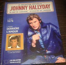 JOHNNY HALLYDAY LIVRE + CD DERRIERE L AMOUR DE LA COLLECTION OFFICIELLE