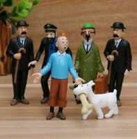 The Adventures of Tintin 3″Figures Figurines 6pcs/set Cake Doll Cake Topper Gift