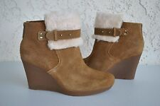 UGG Women's Antonia Suede Ankle Wedge Boot Size US 11