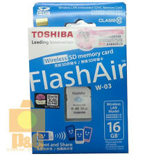New Original Toshiba Flash Air 16GB Class 10 Wireless Memory Card / Wifi SD Card