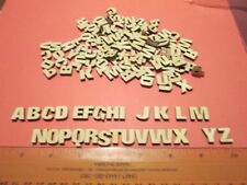130 Small Laser Cut Wood Letters 1/2