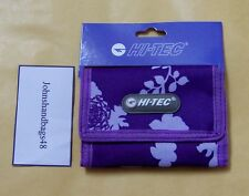 PURPLE FLORAL CANVAS SPORTS WALLET IDEAL FOR DINNER MONEY