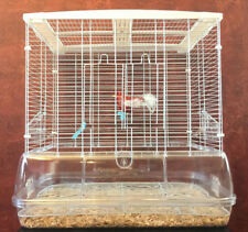 New Transparent Clear Bird Cage For Canary Parakeets Cockatiel Budgies Finch 357