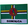Dominica Flag Patch Iron Sew On Clothes T Shirt Bag Caribbean Embroidered Badge