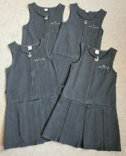 X4 Tu Girls School Pinafore Dresses Grey 5 Years