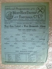 1947 League Division II WEST HAM UNITED v WEST BROMWICH ALBION,15th March, Rare