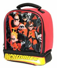 DISNEY INCREDIBLES 2 Dual Chamber Lead&PVC Safe Insulated Lunch Box Tote Bag NWT