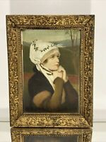 """VTG Aesthetic French Design Victorian Picture Wood Frame Fits 7""""x10"""""""