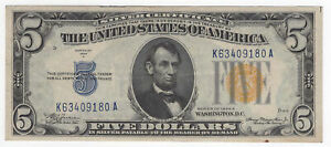 $5 1934-A North Africa WWII Emergency Silver Certificate Fr#2307