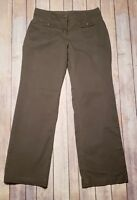 New York & Company Womens Pants Chino Casual Bootcut Olive Green 2