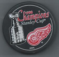 1998 Stanley Cup Champions  Detroit Red Wings  Souvenir Hockey Puck