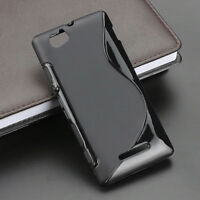 For Sony Xperia M C1904 / C1905 S Line Silicone Gel Skin Case - Anti-Slip Grip