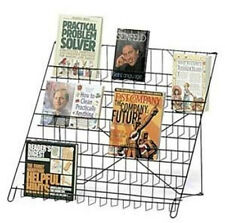 Wire Literature Black Display Rack 6 Tier - Countertop Retail Rack Books, Dvd/Cd